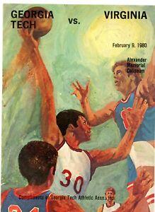 1980 Georgia Tech vs. Virginia Basketball Program SHARP