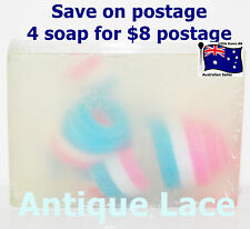 HANDMADE NATURAL TRANSPARENT SOAP ~ Antique Lace ~ 100GRAMS ~ 4 for $8 Postage