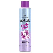 (19,07€/L) 6x 300ml Schwarzkopf got2b #Instashine glanzvolles Haarspray selfie