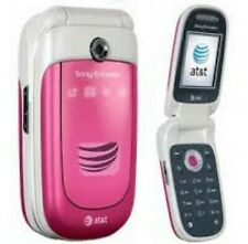 GOOD! Sony Ericsson Z310a PINK Camera GSM Bluetooth Speaker Flip AT&T Cell Phone