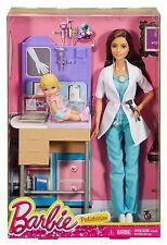 BARBIE PEDIATRICIAN & TODDLER DOCTOR PLAYSET CAREER DOLL TERESA DKJ12 *NU*