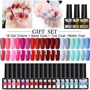 21x/Set MAD DOLL Soak Off UV Gel Nail Polish Kit LED Top Base Coat Tool Varnish
