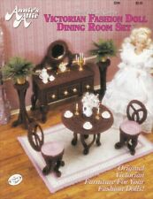 Victorian Fd Dining Room Set Barbie Table Chairs Buffet Rug Plant Stand Oop Rare