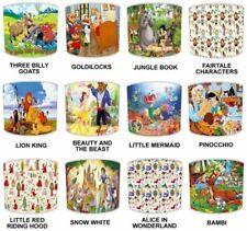 Pantallas de lámparas multicolor Premier para niños, cuento de hadas