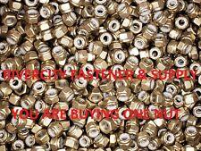 (1) 1/4 x 20 Brass Nylon Insert Lock / Stop / Nyloc Nuts 1/4-20 Nut nylock