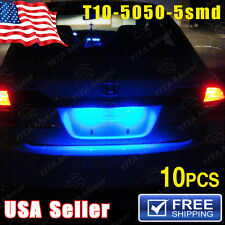 10X Iceblue T10 5SMD 5050 LED Car Dome License Map Light W5W 158 192 194 168