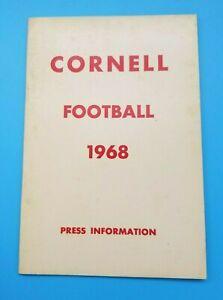 CORNELL BIG RED - COLLEGE FOOTBALL MEDIA GUIDE - 1968 - NEAR MINT