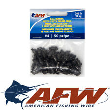 #4 200lb AFW American Fishing Wire Ball Bearing Swivel BB Swivels Leaders QTY 50