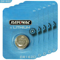 5 x Rayovac CR1620 batteries Lithium 3V Coin Cell BR1620 KRC1620 DL1620 EXP:2023