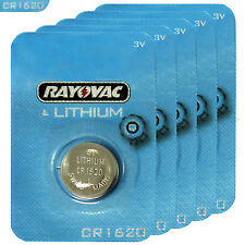 5 x Rayovac CR1620 batteries Lithium 3V Coin Cell BR1620 KRC1620 DL1620