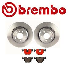2 Pack Brembo Rear Brakes Disc Rotors Brake Pad Set Kit E53 For BMW x5 3.0i 4.4i