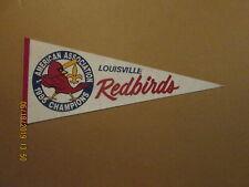 American Association Louisville Redbirds 1985 Champions Logo Baseball Pennant