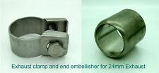 Eberspacher o Webasto RISCALDATORE 24mm Scarico Morsetto e estremità