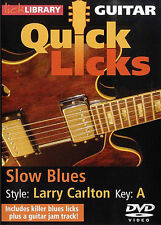 Bibliothèque lécher apprendre à jouer rapide lèche Larry Carlton Blues lente guitare tuteur DVD