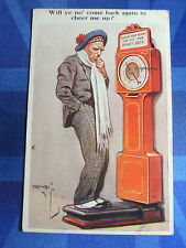Comic Postcard 1930s Scotsman GUESS YOUR WEIGHT Weigh Weighing Machine Theme