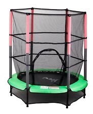 FoxHunter Junior Trampoline With Enclosure Safety Net Kids Child Green 4.5FT 55""