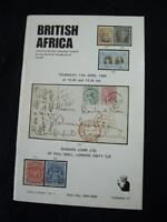 ROBSON LOWE AUCTION CATALOGUE 1970 BRITISH AFRICA with 'SANDERSON' COLLECTION