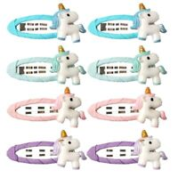 4pcs Cute Unicorn Hairpin Cartoon Horse Ponytail Holder Kid Hair Band Hair Clip