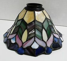 """Quoizel Collectible Tiffany Style Leaded Stained Glass Lamp Shade 4.5"""" high"""