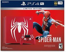 PlayStation 4 Pro 1TB Limited Edition Console - Marvel's Spider-Man Bundle NEW