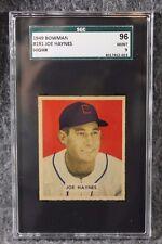 Vintage Baseball Card 1949 Bowman MLB SGC 96 Mint 9 Joe Haynes Only 1 Higher
