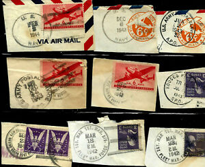 APO US Navy Marine Force 1942-1945 Wartime CDS Fancy Cancel SON 2 Cent US 36B3
