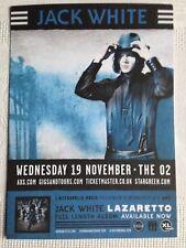 JACK WHITE Lazaretto promo FLYER live 2014 london o2 concert tour white stripes