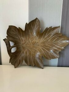 Beautiful Rare Vintage Bois Moule Wooden Leaf Serving Tray Hand Made in France