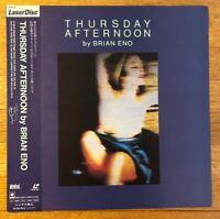 BRIAN ENO Japan (1984) LaserDisc+Obi THURSDAY AFTERNOON Roxy Music U2 Bowie