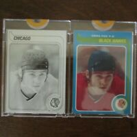 Pair Of 1979-80 Topps Vault GREG FOX 116 ROOKIE NHL Hockey Proof Cards COA Rare