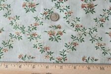 "French Antique 18thC Green & Peach Silk Brocade Fabric Panel~37""X18.5"" ~Dolls"