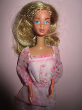 B-535-ALTE BLONDE KISSING BARBIE #2597 MATTEL 1978 ORIGINALES ROSA KLEID MATTEL