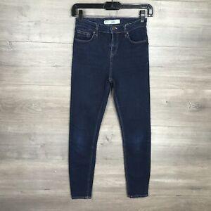 """Topshop Women's Size 25 Jamie Skinny Jeans Dark Wash Denim 26"""" Inseam"""