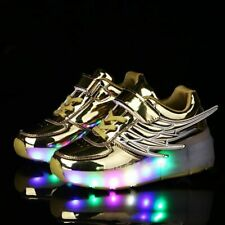 2020 Luminous Glowing Sneakers With Wheels Kids LED Light Up Roller Skate Shoes