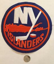 "New York Islanders NHL Logo / Crest Patch 7"" Inch round Iron On / Sew On Patches"