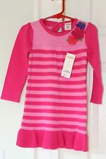 NWT GYMBOREE STYLISH CORGI Size 2T PINK STRIPED FLOWER SWEATER DRESS