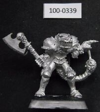 Citadel Warhammer caos Champion of Khorne W Axe & mutations (1988) RARE