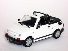 FIAT 126 P 126 Polski Fiat Bambino Cabrio weiss IXO Altaya Atlas S-Preis 1:43