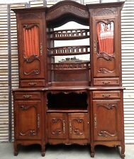 Two cabinet louis xv corp forming credence solid oak carved. xx century.