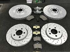VW GOLF MK4 2.0 2.8 V6 4MOTION FRONT REAR DRILLED GROOVED DISCS & MINTEX PADS