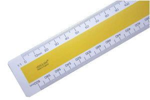 "30cm 12"" No.1 Verulam Mechanical Engineers RIBA scale ruler 1:1 1:2 1:5 1:10"