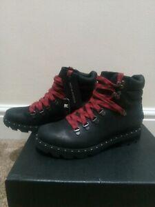 SOREL Lennox Leather Hiker Boots, Black Size UK 7