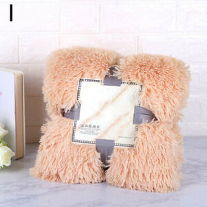 Faux Fur Blanket Shaggy Ultra Plush Decorative Throw Bedding Super SoftBed sheet