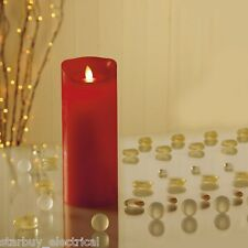 Premier LB131010R Beautiful 23cm Dancing Flame Candle in Red
