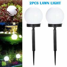 2 Solar LED Ground Light Ball Lamp Waterproof Outdoor Garden Yard Path Decor US
