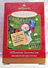 HALLMARK Keepsake Ornaments 2000 Millennium Snowma'am Tip Your Hat 2000-2001