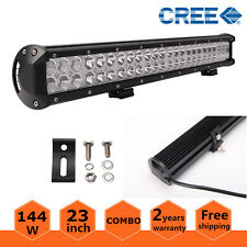 "23""INCH 144W LED LIGHT BAR SPOT FLOOD WORK LAMP OFFROAD 4WD TRUCK 12V 24V 20/22"