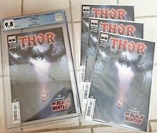 Thor #4 2nd Print CGC 9.8 (2020) Lot of (4) 1st Black Winter Cover