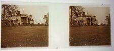 1923 (2) RARE GLASS POSITIVE STEREOSCOPE PHOTOGRAPHS WASHINGTON DC MOUNT VERNON