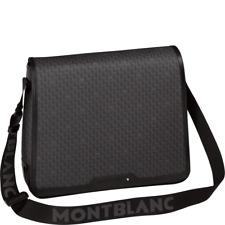 106758 Montblanc/Signature Black / Sac de Messager / Tissu Noir et Cuir Noir